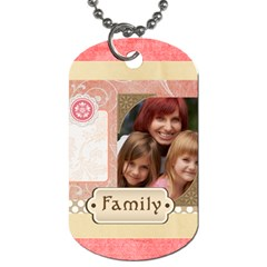 Kids, Love, Happy, Play, Fun, Child By Jacob   Dog Tag (two Sides)   4rz1f9kvbl80   Www Artscow Com Front