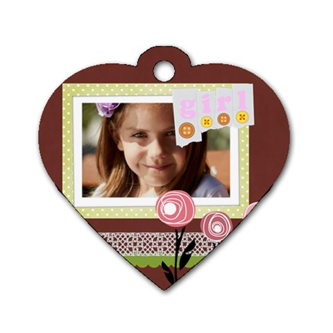 Kids, Love, Happy, Play, Fun, Child By Jacob   Dog Tag Heart (one Side)   Ov0js8bei0xp   Www Artscow Com Front