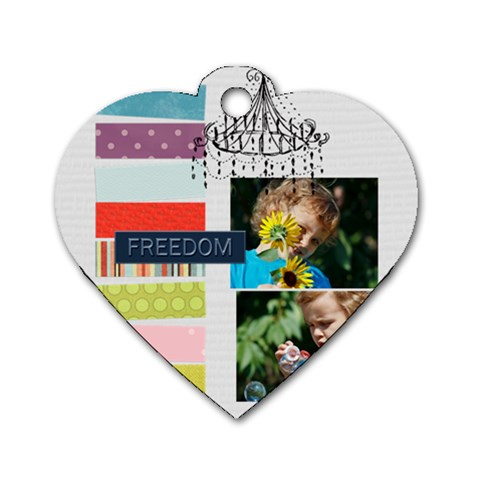 Kids, Love, Happy, Play, Fun, Child By Jacob   Dog Tag Heart (one Side)   Ajn8xfk5e6ba   Www Artscow Com Front