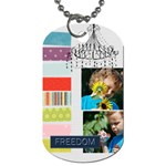 kids, fun, child, play, happy - Dog Tag (Two Sides)