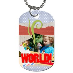 Kids, Fun, Child, Play, Happy By Jacob   Dog Tag (two Sides)   Jsvo52nk8lw3   Www Artscow Com Back