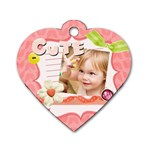 kids, love, family, happy, play, fun - Dog Tag Heart (One Side)