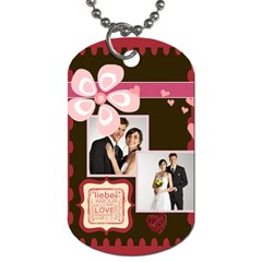 Love,memory, Happy, Fun  By Jacob   Dog Tag (two Sides)   1fbri30stody   Www Artscow Com Front