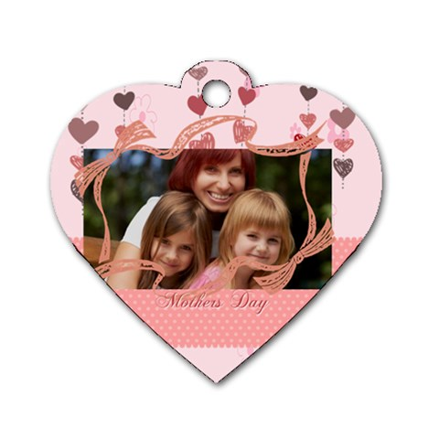 Mothers Day By Jacob   Dog Tag Heart (one Side)   Ugcsduxapz66   Www Artscow Com Front