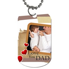 Fathers Day By Jo Jo   Dog Tag (two Sides)   Y8eakn8x0j6p   Www Artscow Com Back