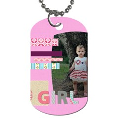 Kids By Jo Jo   Dog Tag (two Sides)   D8srotgknbiz   Www Artscow Com Front