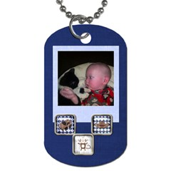 Fordavid By Allison Buice   Dog Tag (two Sides)   Ordkayydhaw4   Www Artscow Com Front