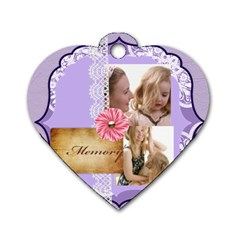 Mothers Love, Mon, Happy, Family, Heart,flower By Joely   Dog Tag Heart (two Sides)   Fao09lg3y431   Www Artscow Com Front