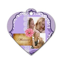Mothers Love, Mon, Happy, Family, Heart,flower By Joely   Dog Tag Heart (two Sides)   Fao09lg3y431   Www Artscow Com Back