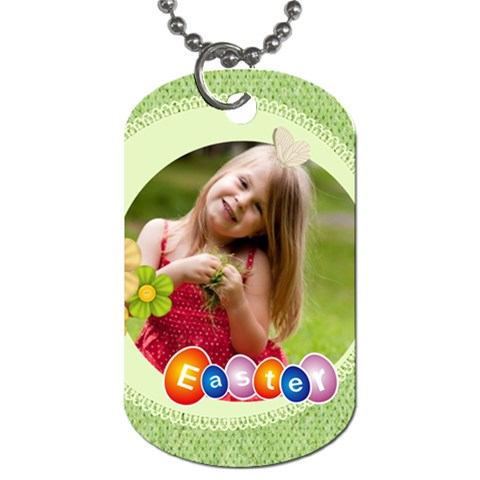 Easter By Easter   Dog Tag (one Side)   1mzjobdowy2a   Www Artscow Com Front