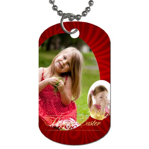 Easter By Easter   Dog Tag (one Side)   Up9l1h0ysav3   Www Artscow Com Front