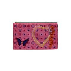 Bag Butterfly By Shelly   Cosmetic Bag (small)   7n1y6es8xkpg   Www Artscow Com Front