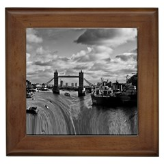 River Thames Waterfall Framed Ceramic Tile by Londonimages