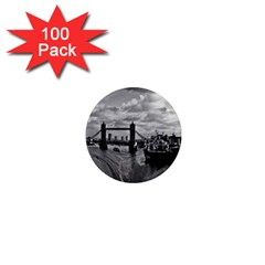 River Thames Waterfall 100 Pack Mini Magnet (round) by Londonimages