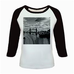 River Thames Waterfall Long Sleeve Raglan Womens'' T Shirt by Londonimages
