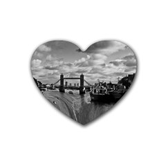 River Thames Waterfall 4 Pack Rubber Drinks Coaster (heart) by Londonimages