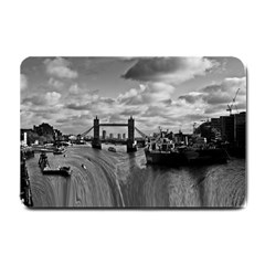 River Thames Waterfall Small Door Mat by Londonimages