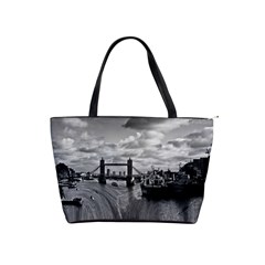 River Thames Waterfall Large Shoulder Bag by Londonimages