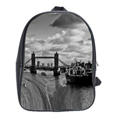 River Thames Waterfall Large School Backpack by Londonimages