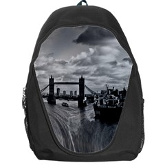 River Thames Waterfall Backpack Bag by Londonimages