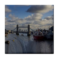 Thames Waterfall Color Ceramic Tile by Londonimages