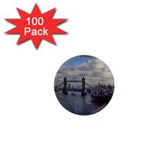 Thames Waterfall Color 100 Pack Mini Magnet (round) by Londonimages
