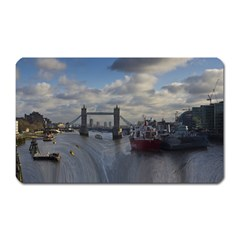 Thames Waterfall Color Large Sticker Magnet (rectangle)