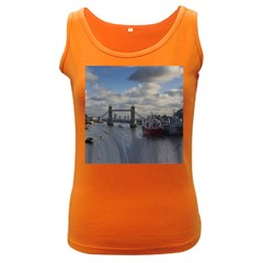 Thames Waterfall Color Dark Colored Womens'' Tank Top by Londonimages
