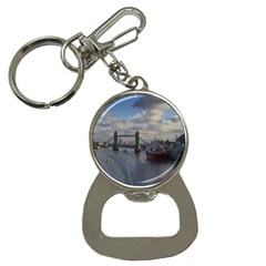 Thames Waterfall Color Key Chain With Bottle Opener by Londonimages