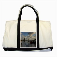 Thames Waterfall Color Two Toned Tote Bag by Londonimages