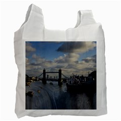 Thames Waterfall Color Single Sided Reusable Shopping Bag by Londonimages