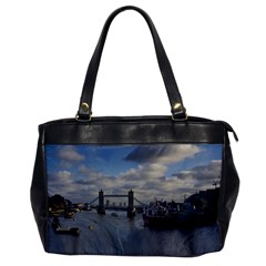Thames Waterfall Color Single Sided Oversized Handbag by Londonimages
