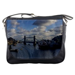 Thames Waterfall Color Messenger Bag by Londonimages