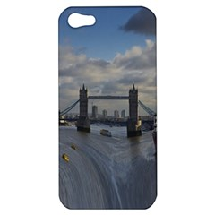 Thames Waterfall Color Apple Iphone 5 Hardshell Case by Londonimages