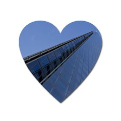 The Shard London Large Sticker Magnet (heart) by Londonimages