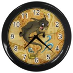 Geniedonkey (1) Wall Clock (Black)