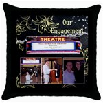 paul and mary ann - Throw Pillow Case (Black)