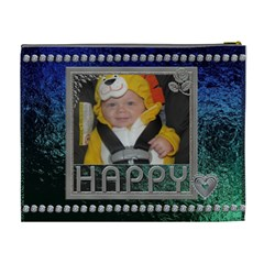 Happy Xl Cosmetic Bag By Lil    Cosmetic Bag (xl)   Uesl2bvao6za   Www Artscow Com Back