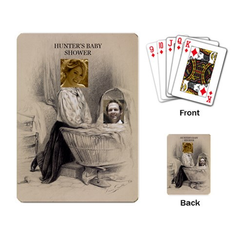 Vals Baby Shower Deck By Julie   Playing Cards Single Design   5hew3iys3n6h   Www Artscow Com Back
