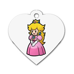 Peach Dogtag By Juliet Van Ree   Dog Tag Heart (two Sides)   8vnlib882uls   Www Artscow Com Front