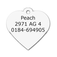 Peach Dogtag By Juliet Van Ree   Dog Tag Heart (two Sides)   8vnlib882uls   Www Artscow Com Back