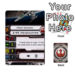 Rebel Custom Ships By Michael   Playing Cards 54 Designs   8iawvb7uat9r   Www Artscow Com Front - Club3