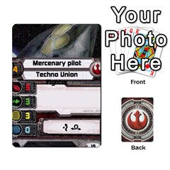 Rebel Custom Ships By Michael   Playing Cards 54 Designs   8iawvb7uat9r   Www Artscow Com Front - Club7
