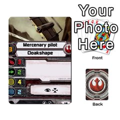 Rebel Custom Ships By Michael   Playing Cards 54 Designs   8iawvb7uat9r   Www Artscow Com Front - Club9
