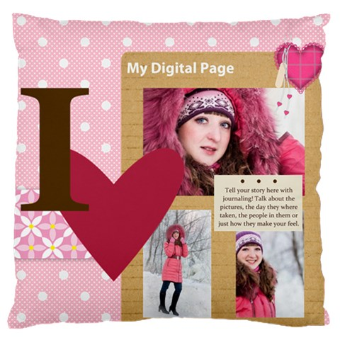 Love By Ki Ki   Large Cushion Case (one Side)   Lg219vcx3jt9   Www Artscow Com Front