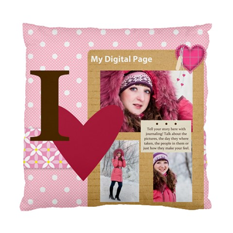 Love By Ki Ki   Standard Cushion Case (one Side)   07a9p8o8j9ih   Www Artscow Com Front