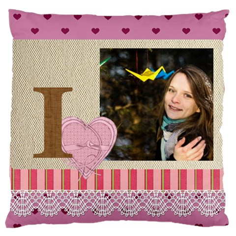 Love By Ki Ki   Large Cushion Case (one Side)   5k21nlxy8eau   Www Artscow Com Front