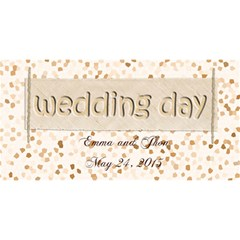 To Our Weddin Day 3d By Zornitza   You Are Invited 3d Greeting Card (8x4)   Eu2g8b25jayt   Www Artscow Com Front