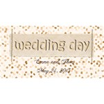 To our weddin day 3D - YOU ARE INVITED 3D Greeting Card (8x4)