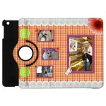 Orange Frill Apple iPad Mini Flip Case 360 - Apple iPad Mini Flip 360 Case